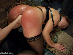 Latex Big Ass girl anal fisting and hard - Unique Bondage - Pic 6