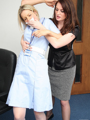 Nurse Fiona Jane is surprised by a psychotic - Unique Bondage - Pic 1