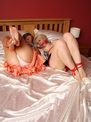 Two busty babes tied with each other - Unique Bondage - Pic 4