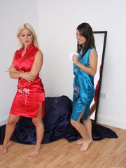 Jess tied up sexy babe Belle - Unique Bondage - Pic 1