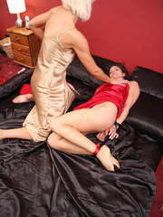 Jan Burton play nasty while Rebekah Dee is - Unique Bondage - Pic 5