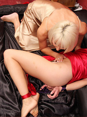 Jan Burton play nasty while Rebekah Dee is - Unique Bondage - Pic 8