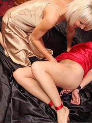 Jan Burton play nasty while Rebekah Dee is - Unique Bondage - Pic 10