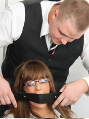 Cate Harrington get tied, gagged and abused - Unique Bondage - Pic 2