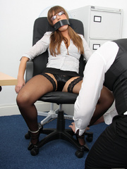 Cate Harrington get tied, gagged and abused - Unique Bondage - Pic 3
