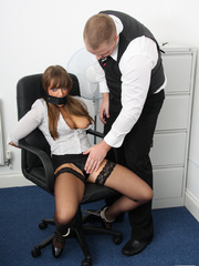 Cate Harrington get tied, gagged and abused - Unique Bondage - Pic 6