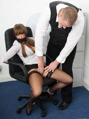 Cate Harrington get tied, gagged and abused - Unique Bondage - Pic 7