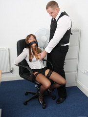 Cate Harrington get tied, gagged and abused - Unique Bondage - Pic 8