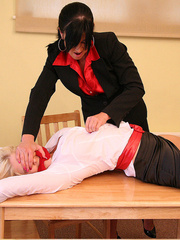 Lolly badcock humilates Michelle B tied to a - Unique Bondage - Pic 4