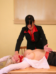 Lolly badcock humilates Michelle B tied to a - Unique Bondage - Pic 5