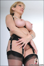Amazing busty mature in lingerie - Unique Bondage - Pic 11