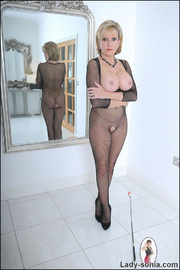 Fishnet catsuit mature dominatrix - Unique Bondage - Pic 13