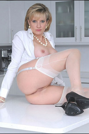 Classy long legs mature nylons wife - Unique Bondage - Pic 14