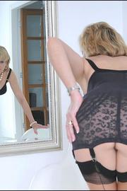 Classic sexy black lingerie mature - Unique Bondage - Pic 3