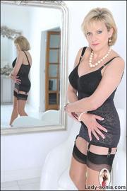 Classic sexy black lingerie mature - Unique Bondage - Pic 4
