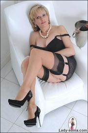 Classic sexy black lingerie mature - Unique Bondage - Pic 11