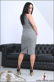 Nylons and heels slim brunette milf - Unique Bondage - Pic 2
