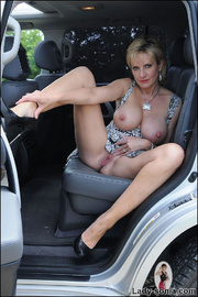 Milf lady sonia spreading in a car - Unique Bondage - Pic 11