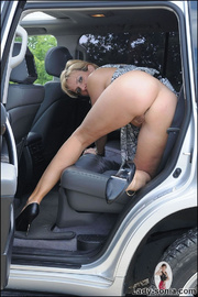 Milf lady sonia spreading in a car - Unique Bondage - Pic 15