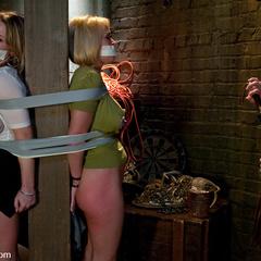 Two promiscuous sluts get captured, punished - Unique Bondage - Pic 1