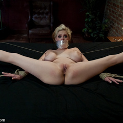 Stripper is dominated, punished, oiled up, - Unique Bondage - Pic 11