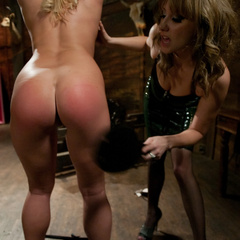 Aurora Snow is tied up, spanked, then ass - Unique Bondage - Pic 6
