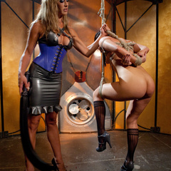 Slut is gagged, punished and double - Unique Bondage - Pic 1