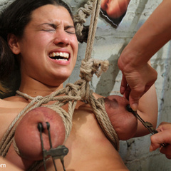 Local girl is behind on her bills and gets - Unique Bondage - Pic 2