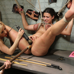 Local girl is behind on her bills and gets - Unique Bondage - Pic 3