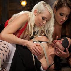 Two hot sadistic lesbian dommes double - Unique Bondage - Pic 10