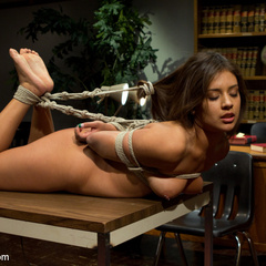 Cute 20 year old with a perfect ass gets - Unique Bondage - Pic 14