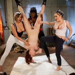 Aiden Starr, Nyomi Banxxx & Maitresse - Unique Bondage - Pic 8