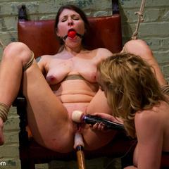 Youthful lesbian domme dominates older women - Unique Bondage - Pic 11