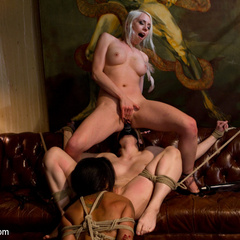 Kinky lesbian art teacher punishes and - Unique Bondage - Pic 6