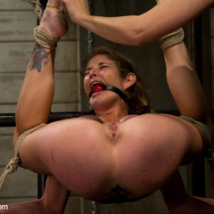 Hot dominatrix is put in her place, brutally - Unique Bondage - Pic 4
