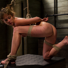 Hot dominatrix is put in her place, brutally - Unique Bondage - Pic 14
