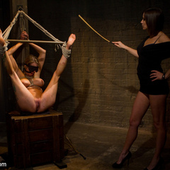 Seductive lesbian dominatrix boss makes her - Unique Bondage - Pic 3