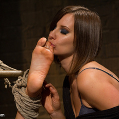 Seductive lesbian dominatrix boss makes her - Unique Bondage - Pic 4