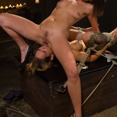 Seductive lesbian dominatrix boss makes her - Unique Bondage - Pic 5