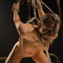 Seductive lesbian dominatrix boss makes her - Unique Bondage - Pic 8