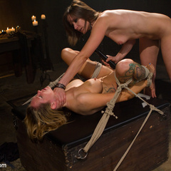 Seductive lesbian dominatrix boss makes her - Unique Bondage - Pic 12