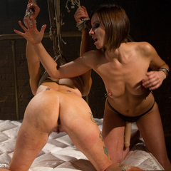 Seductive lesbian dominatrix boss makes her - Unique Bondage - Pic 15