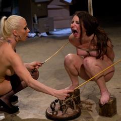 Submissive slut faces her fears in a kinky, - Unique Bondage - Pic 8