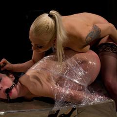 Submissive slut faces her fears in a kinky, - Unique Bondage - Pic 15