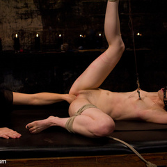 Petite gorgeous sub is bound in restrictive - Unique Bondage - Pic 5