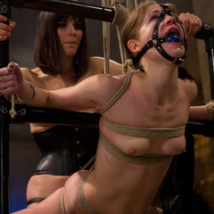 Petite gorgeous sub is bound in restrictive - Unique Bondage - Pic 8