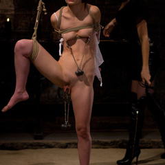 Petite gorgeous sub is bound in restrictive - Unique Bondage - Pic 11
