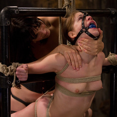 Petite gorgeous sub is bound in restrictive - Unique Bondage - Pic 13