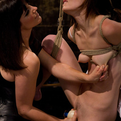 Petite gorgeous sub is bound in restrictive - Unique Bondage - Pic 14