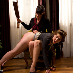 Kinky lesbian piano teacher punishes and ass - Unique Bondage - Pic 2